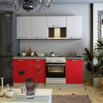 Кухня олимп красная