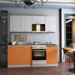 Кухня олимп оранжевая